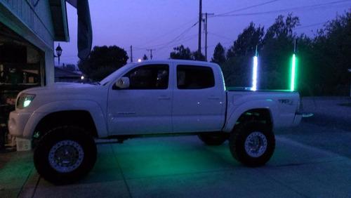 antena led ford ranger camionetas 90 cm azul mfi
