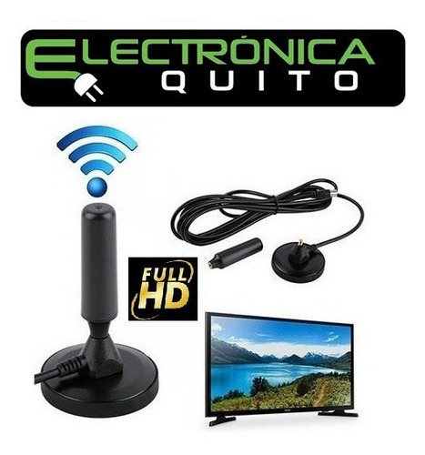 antena magnetica tv ultra hd digital universal 4mt cable