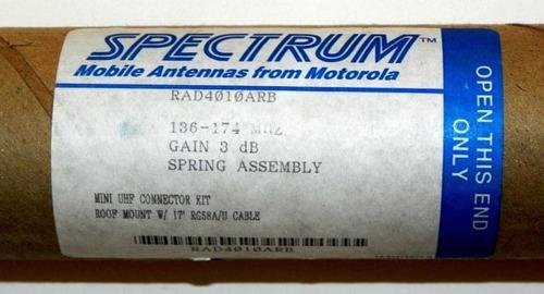 antena motorola spectrum movil vhf 136 - 174 mhz, ref 50