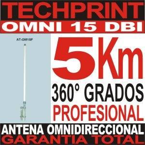 antena omnidireccional 15 dbi profesional 5 km cobertura