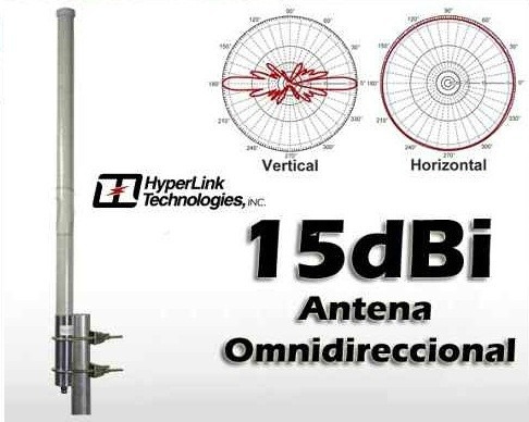 antena omnidireccional hyperlink hg2415u-pro 15 dbi 2.4 ghz