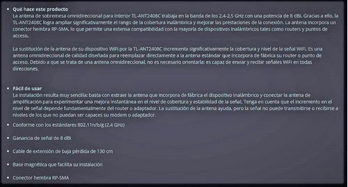 antena omnidrecional tplink tl-ant2408c de 8dbi