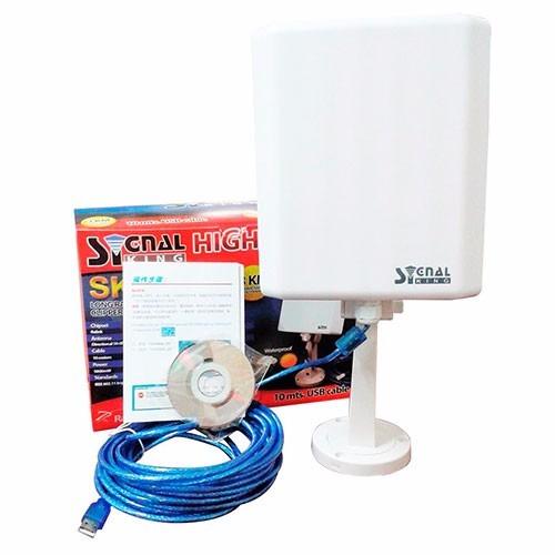 Antena Panel Wifi Red Signal King Sk 10tn 3 Km 10 Metros En Mercado Libre
