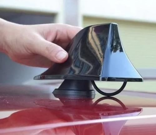 antena para auto radio tiburón techo  roja
