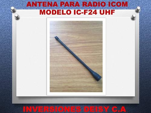 antena para radio portatil icom ic-f14 ic-f24 uhf/vhf