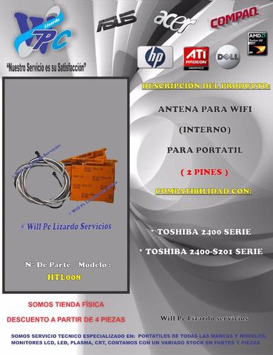 antena para wifi interno toshiba 2400-s201
