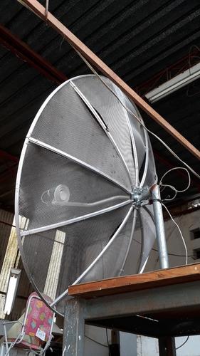antena parabólica 1,70 mtrs 10 telas telada cod 2567