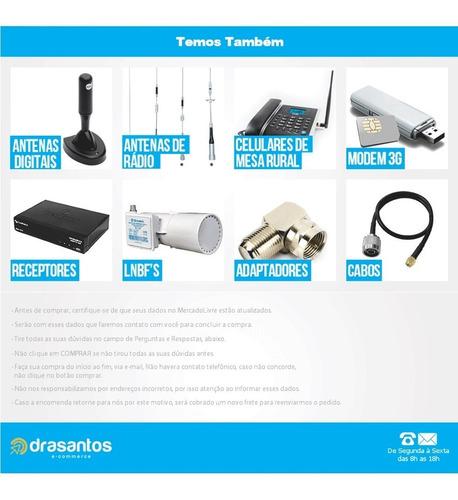 antena parabolica 190cm multi receptor digital hd analogic