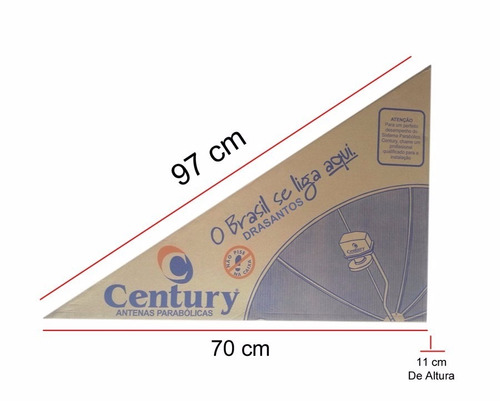 antena parabolica century completa analógico digital hd