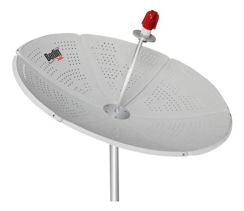 antena parabólica de chapa bedinsat 150 cm com bengala