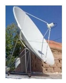antena parabolica satelital chapa 185cm banda c/ku