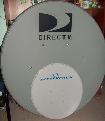 antena parabolica satelital usada 120 cm con soporte lnb
