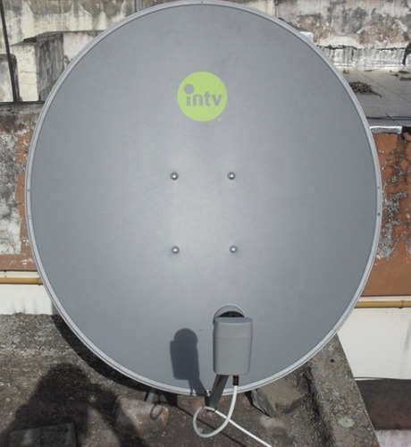 antena parabolica satelital usada 76 cm con soporte lnb