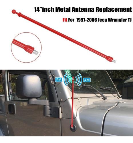 antena radio fm am metal aluminio jeep wrangler tj 1997-2006