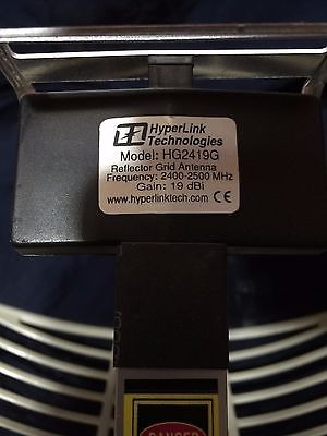 antena rejilla hyperlink 2.4ghz 19dbi wifi largo alcance 9km