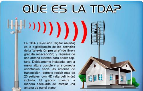 antena tda exterior tv hd digital satelital apto dos tv