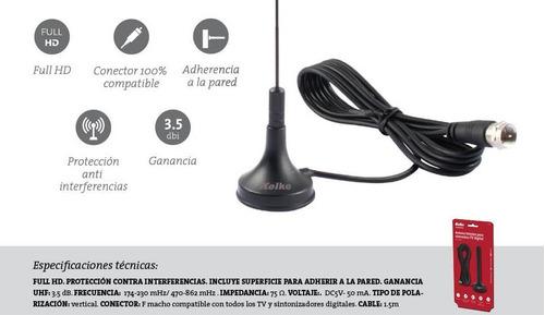 antena tda interior kolke tv digital hd - factura a / b