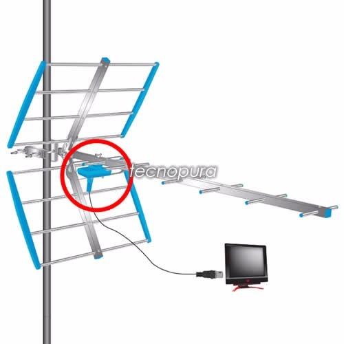antena tdt exterior hdtv dvbt2 vhf uhf 16 elementos aluminio