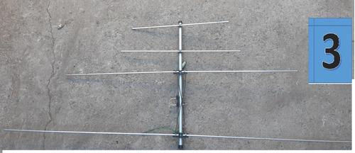 antena televisión exterior aluminio 4elem+ cable coaxial 15m
