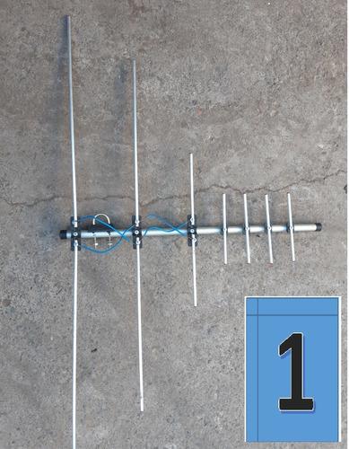 antena televisión exterior aluminio 7elem+ cable coaxial 15m
