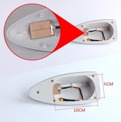 antena tiburón chip de señal universal am y fm para auto.