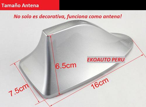 antena tiburón de señal universal am y fm para automóviles.