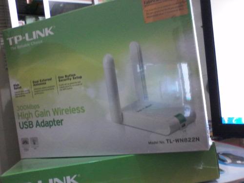 antena tp-link mod.tl-wn 822n,300 mbps para escritorio