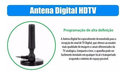 antena tv conversor digital hdtv interna externa cabo 4.3 mt