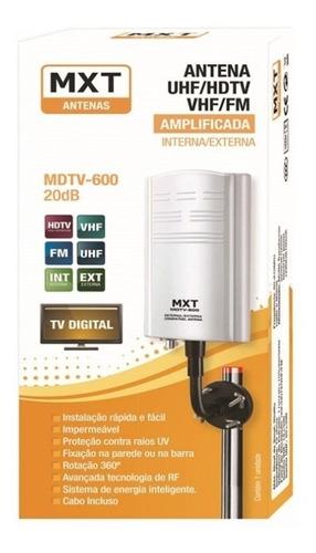 antena tv digital amplificada hdtv uhf vhf interna/externa