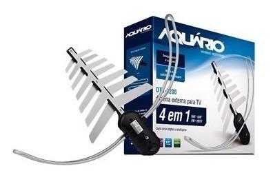 antena tv digital externa 4 em 1 dtv-3200 - aquário