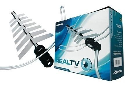 antena tv digital externa 75 ohms dtv-3200 aquário