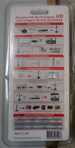 antena tv digital interna externa 4k ultra hd base magnética