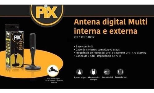 antena tv digital interna externa multi hdtv  24dbi pix