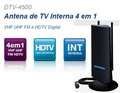 antena tv interna de multirecepção hdtv dtv-4500 tv digital