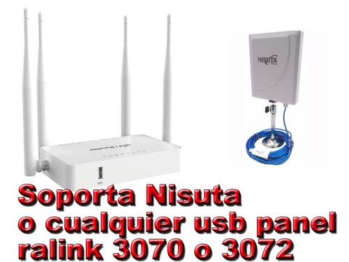 antena usb wifi, 36dbi 10m cable 3000mw ralink 3072