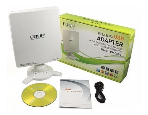 antena usb wifi edup 6506 54mbps 2000mw 16dbi, hasta 3.000m