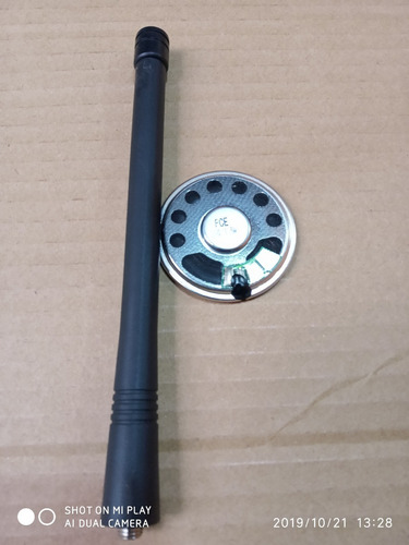 antena vhf + alto falante p/ep450