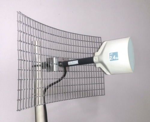 antena wifi 20db grillada alcance hasta 7 km punto a punto