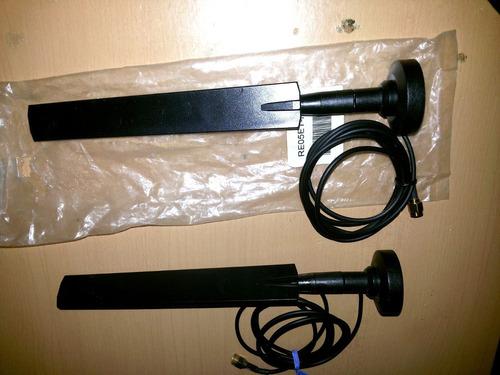 antena wifi 2.4 base magnetica rp-sma conector 5dbi