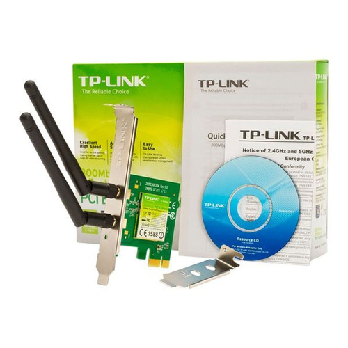antena wifi adaptador pci-e tp-link tl-wn881nd n 300mbps