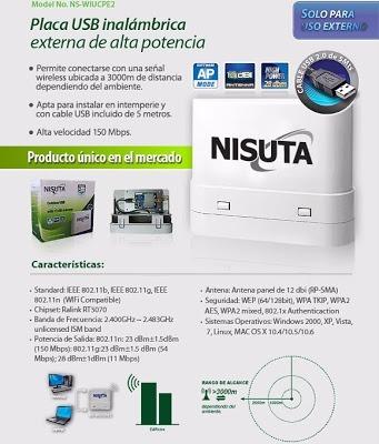 antena wifi alta potencia nisuta ns-wiucpe2