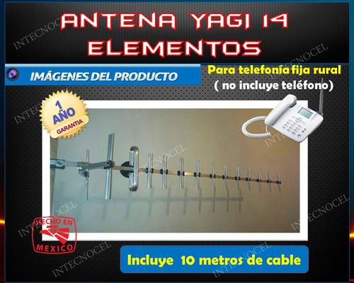 antena yagi 14 elem. reforzada, telefonia fija rural 800-900
