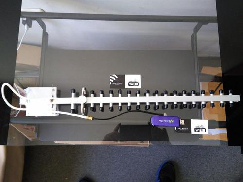 antena yagi 4g para modem usb + cable lmr200 + pigtail