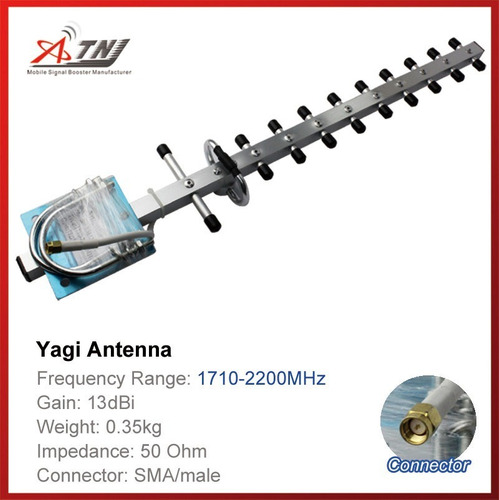 antena yagi de alta ganancia para dcs 3g 1700mhz + 2200mhz