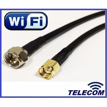 Cable Pigtail Adaptador Wifi Sma Macho - F Macho Rg6 !!!