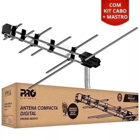 antenas externa tv digital + suporte + cabo oferta