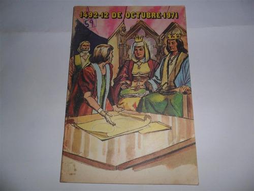 anteojito 1971 cristobal colon viajes america carabela 1492