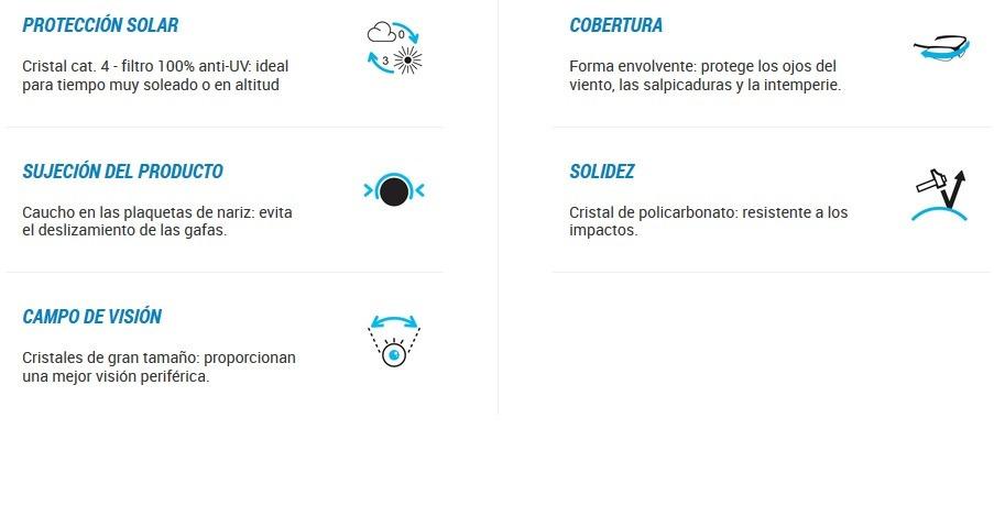724ca38d32 Anteojo De Sol Quechua Decathlon Mh510w Categoría 4 - $ 1.750,00 en ...
