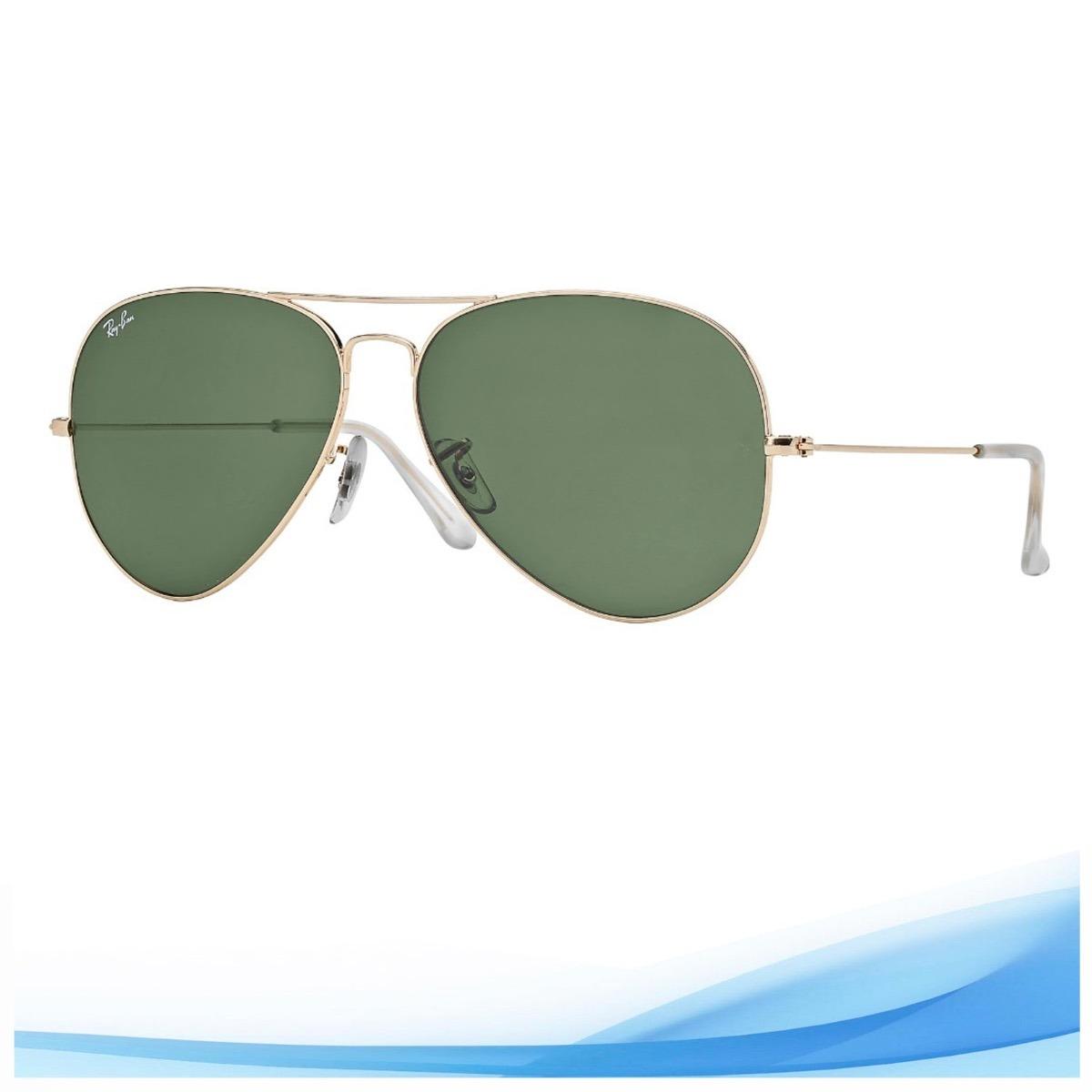 391a8541032d0 anteojo rayban mod. aviator clasico dorado 58mm g15 o marron. Cargando zoom.
