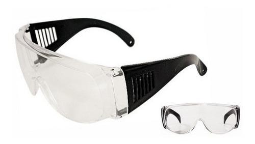 anteojo seguridad visita transparente lente envolvente